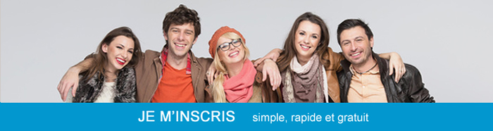 Je m'inscris, simple, rapide et gratuit
